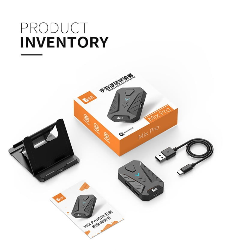 Mobile Game Keyboard and Mouse Adapter, PUBG Call of Duty Controller Converter Wired/Wireless Connections for Android/iOS