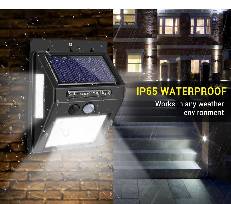 100 LED Solar Light Outdoor Solar Lamp PIR Motion Sensor Wall Light Waterproof Solar Sunlight Powered Garden street light