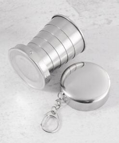 Stainless Steel Folding Cup Travel Tool Kit