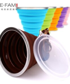 Dustproof Silicone Folding Coffee Cup