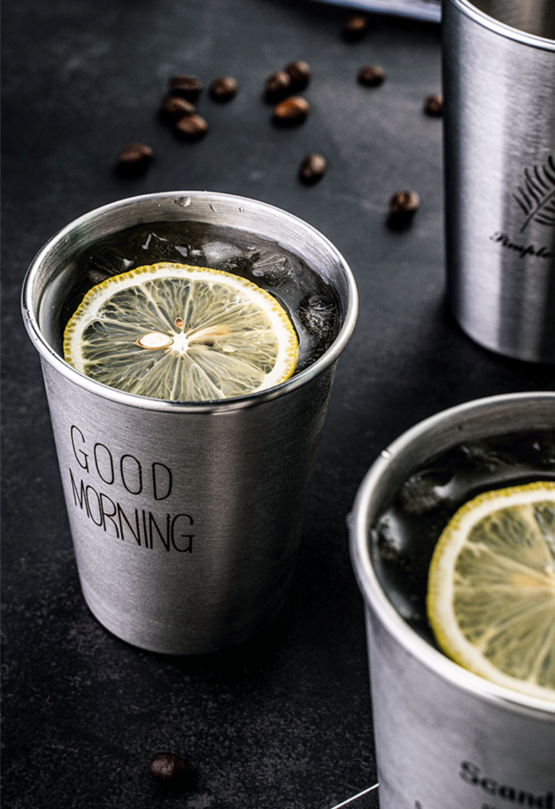 NorthernEurope Ins Industry Style 304 Stainless Steel Spray Paint Beer Cup Cold Water Drinks Cup Household Office Use Gargle Cup