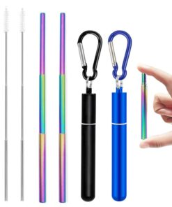 Telescopic Metal Drinking Straw Collapsible
