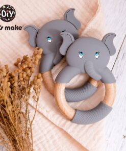 Elephant Teething Toy Beech Wood Ring