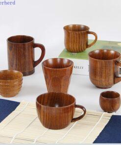 Japanese Wooden Wood Tea Coffee Cup
