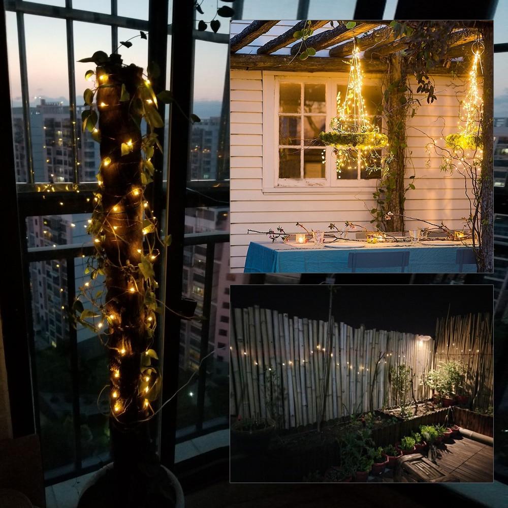 Solar String Fairy Flashing Lamps 10M 20M LED 100/200 leds Waterproof Christmas Decoration