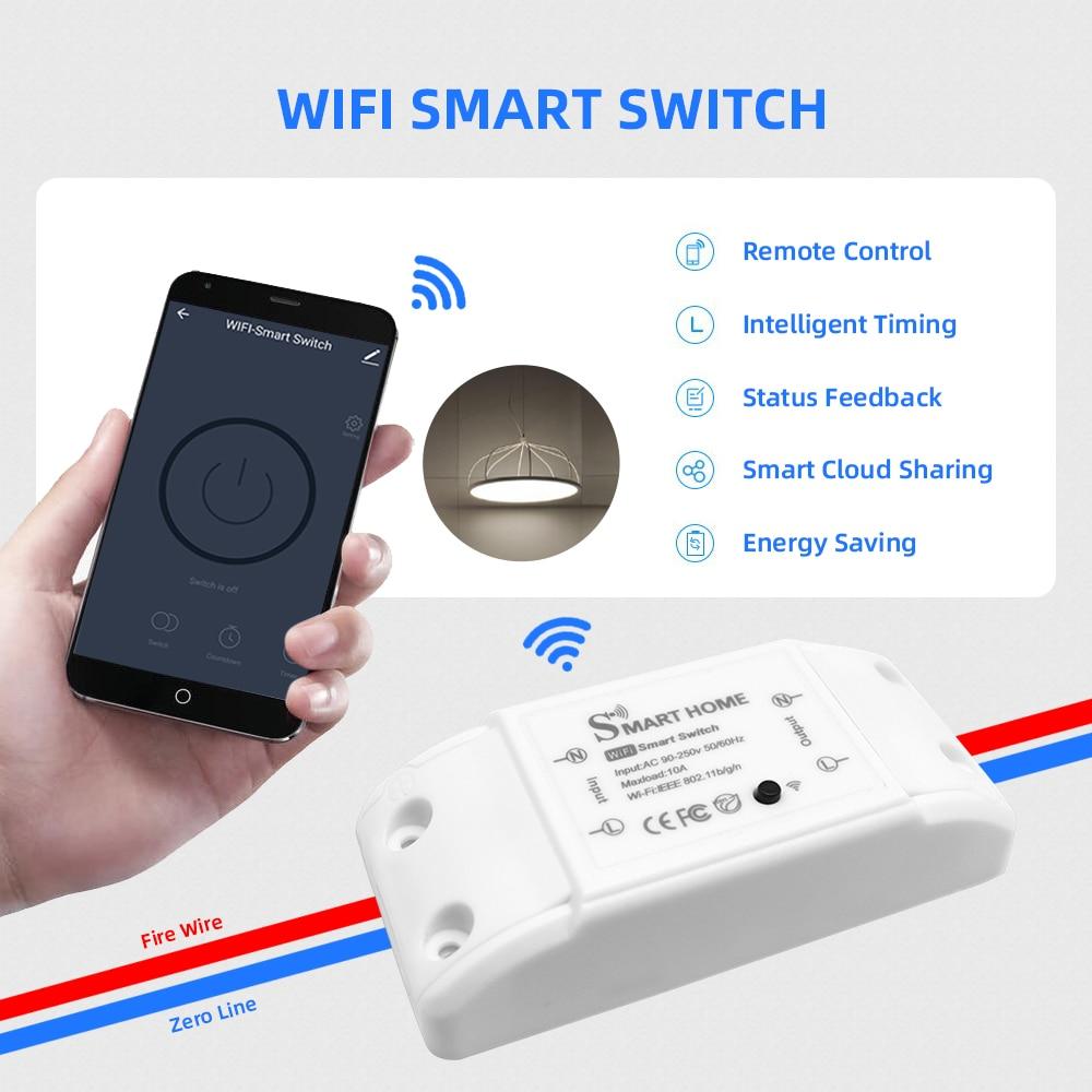 Smart Home Remote Switch Breaker Wifi Wireless Domotic LED Light Controller Module Alexa Google