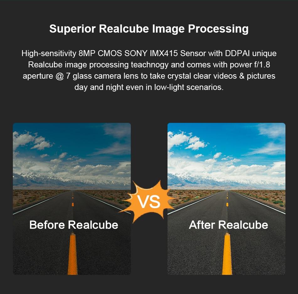 DDPAI Dash Cam Mini 5 UHD DVR Android Car Camera 4K Build-in Wifi GPS 24H Parking 2160P Auto