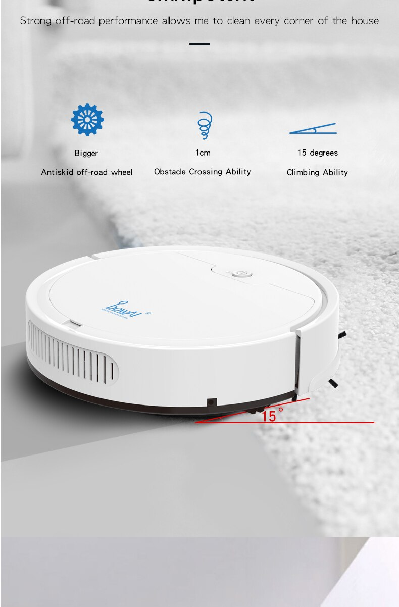 Smart Robot Vacuum Cleaner (2000PA) App Remote Control Multifunctional Wireless Sweeping