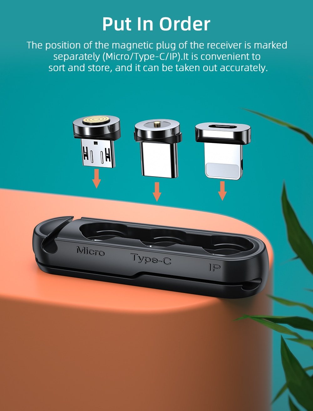 Magnetic Cable Plug Connectors Silicone Container
