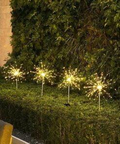 Outdoor LED Solar Flashing Fireworks Lights