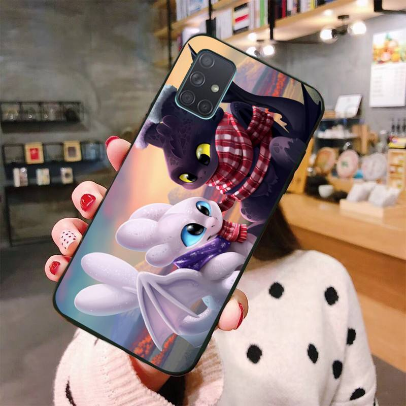 cute toothless Phone Case For Samsung Galaxy A21S A01 A11 A31 A81 A10 A20E A30 A40 A50 A70 A80 A71 A51