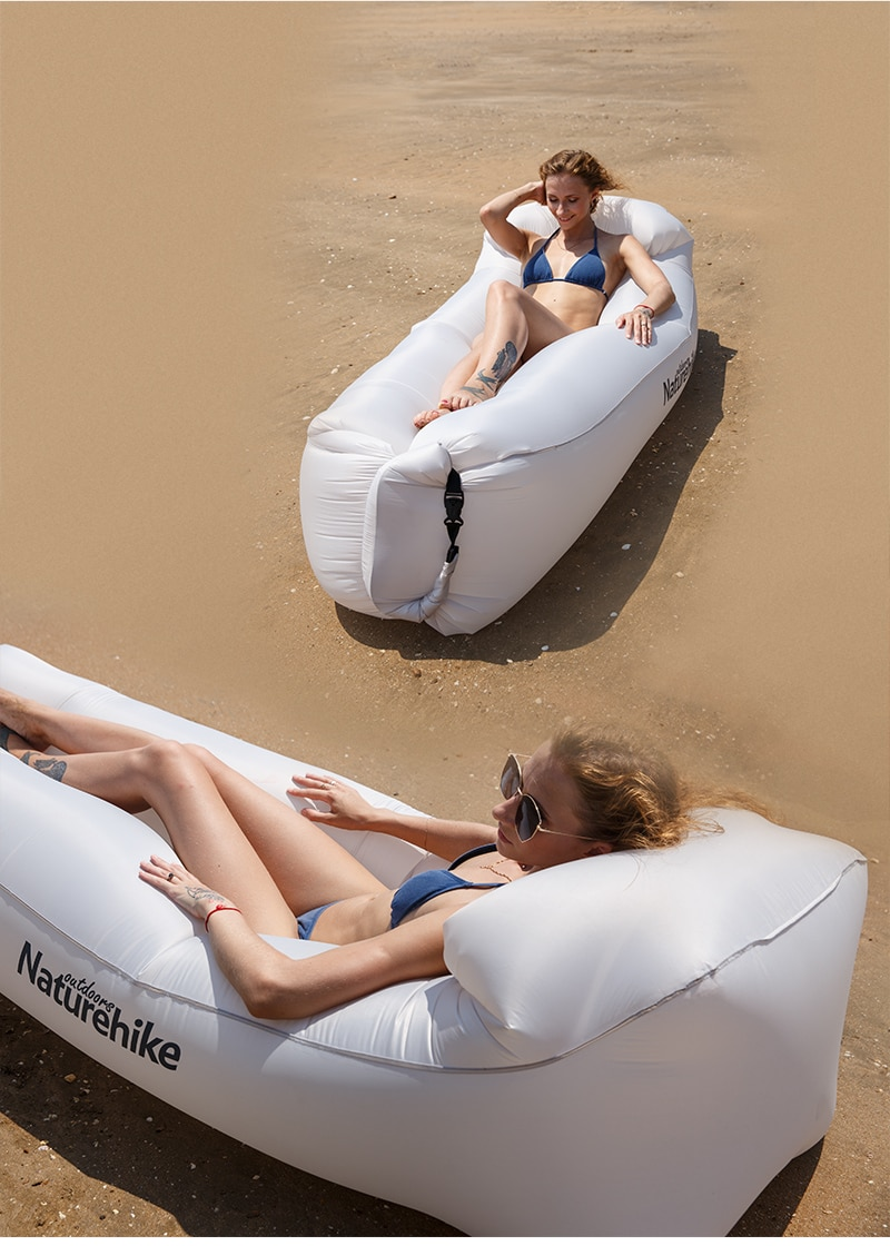 Naturehike Inflatable Sofa Lazy Bag Banana Inflatable Sleeping Bag Blow up Couch Camping Lounge Chair Air Sofa Air Lounger