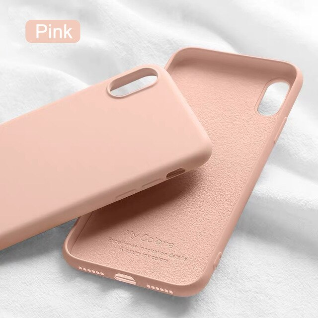 Shockproof Case Luxury Soft for iPhone X Xs Max XR 6.1 For iPhone 11 Pro Max SE 2020 6 6s 7 8 Plus Original Liquid Silicone Case